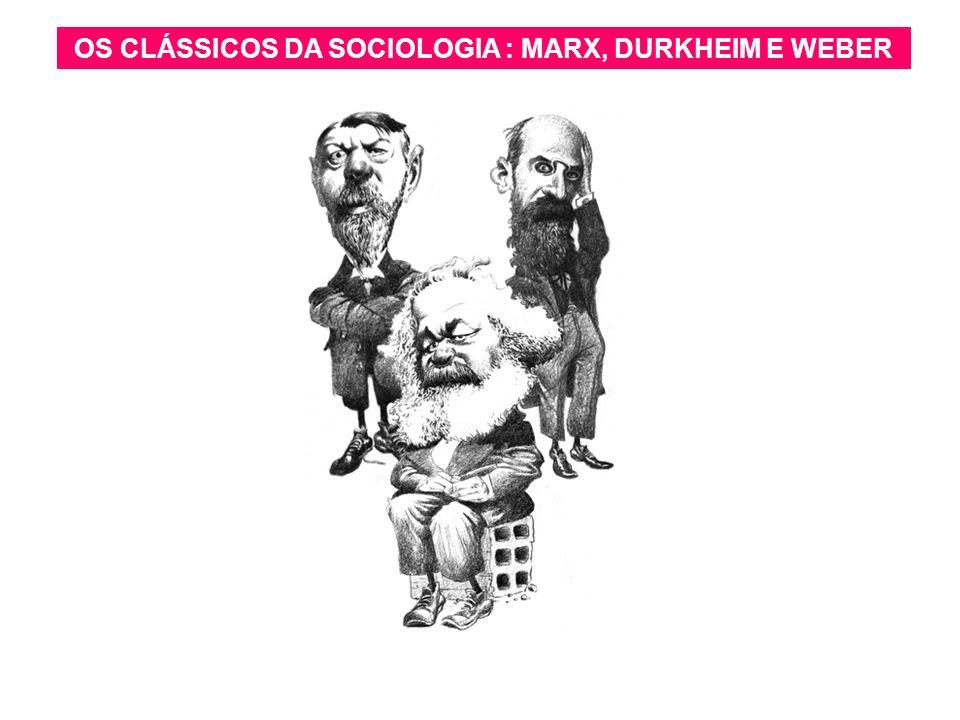 arnaldolemos@uol.com.br OS CLÁSSICOS DA SOCIOLOGIA : MARX, DURKHEIM E WEBER