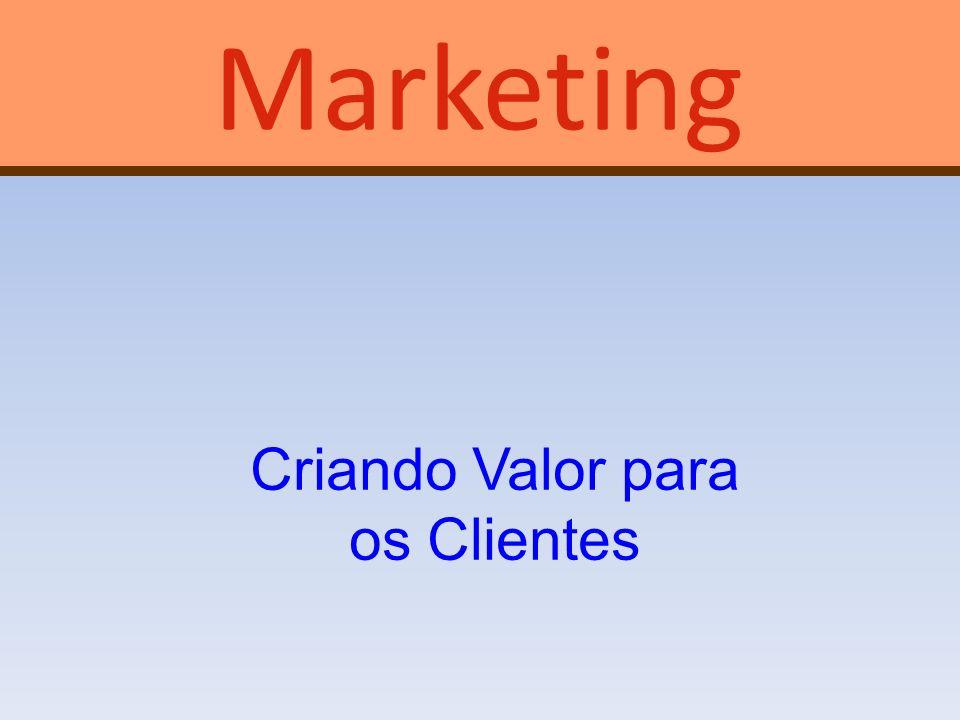 Marketing Criando Valor para os Clientes