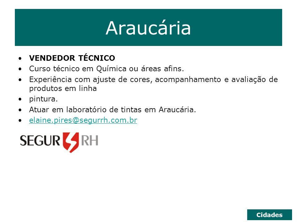 Curitiba ANALISTA DE SISTEMAS FUNCIONAL Ensino Superior Completo em Informática ou áreas correlatas.