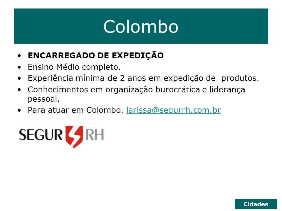 Curitiba COMPRADOR Superior completo em Ciências Contábeis ou Administração, inglês fluente e curso de especialização na área.