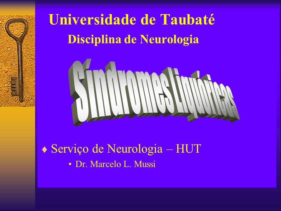 Universidade de Taubaté Disciplina de Neurologia Serviço de Neurologia – HUT Dr. Marcelo L. Mussi