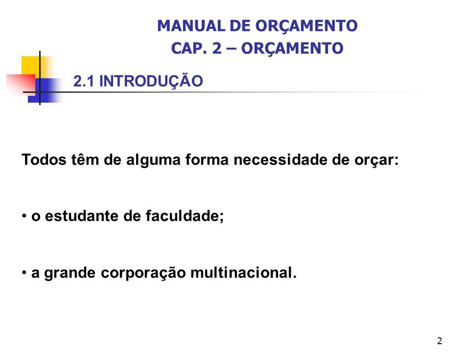 13 2.5 ORÇAMENTO E OS CENTROS DE RESPONSABILIDADE Horngren, Foster e Datar (1997, p.