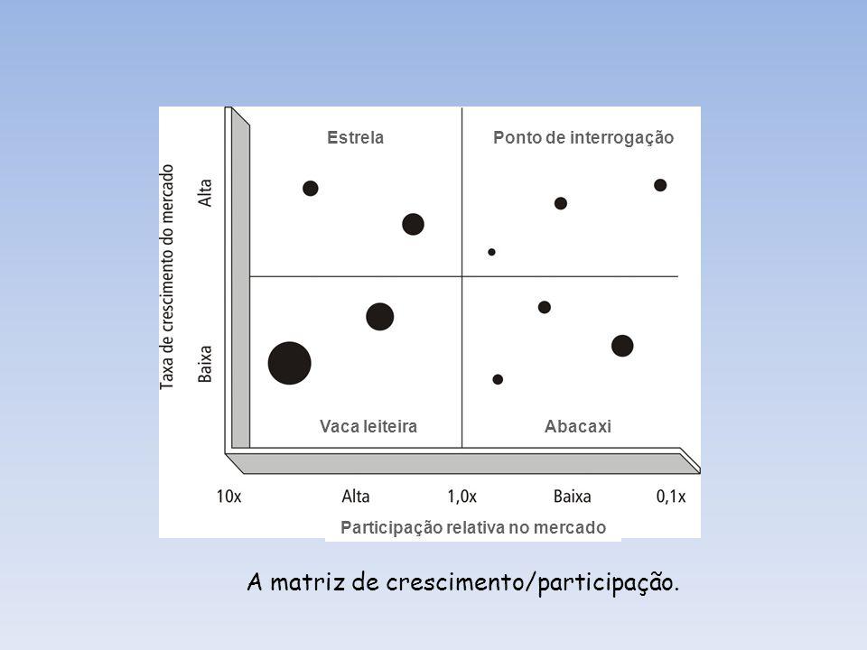 Matriz produto/oportunidade de mercado.