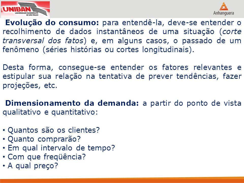 Produto da análise: deve ser a informação de: Quanto se venderá de determinado produto; A que preço; Em que região; Para qual perfil de cliente, com qual freqüência e de acordo com quais tendências.