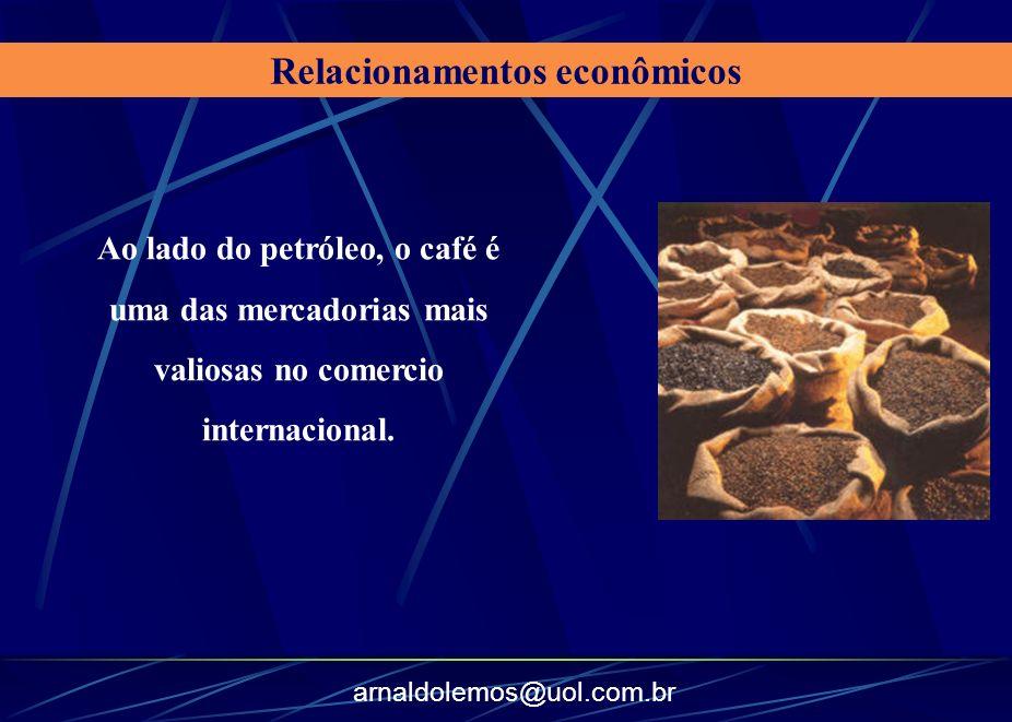 arnaldolemos@uol.com.br Ao lado do petróleo, o café é uma das mercadorias mais valiosas no comercio internacional. Relacionamentos econômicos