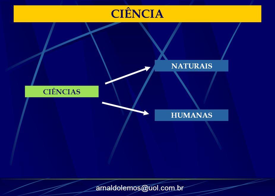 arnaldolemos@uol.com.br CIÊNCIA CIÊNCIAS NATURAIS HUMANAS