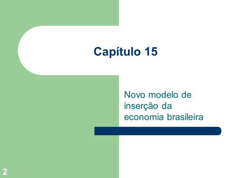 2 Capítulo 15 Novo modelo de inserção da economia brasileira