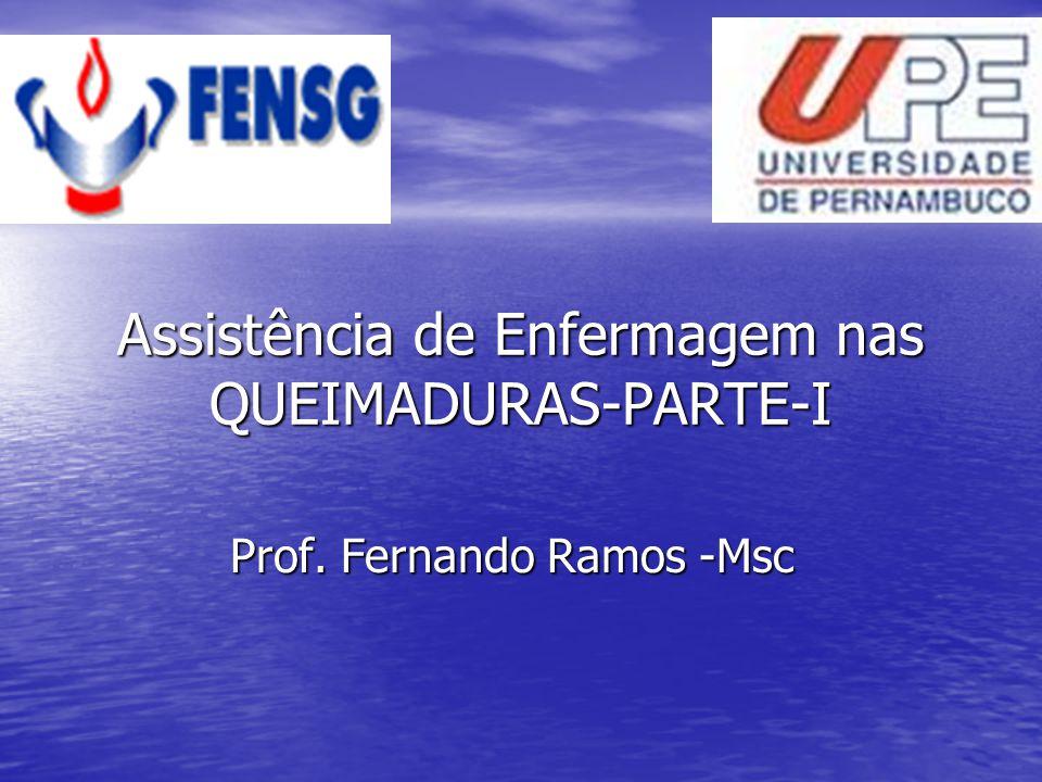 Assistência de Enfermagem nas QUEIMADURAS-PARTE-I Prof. Fernando Ramos -Msc