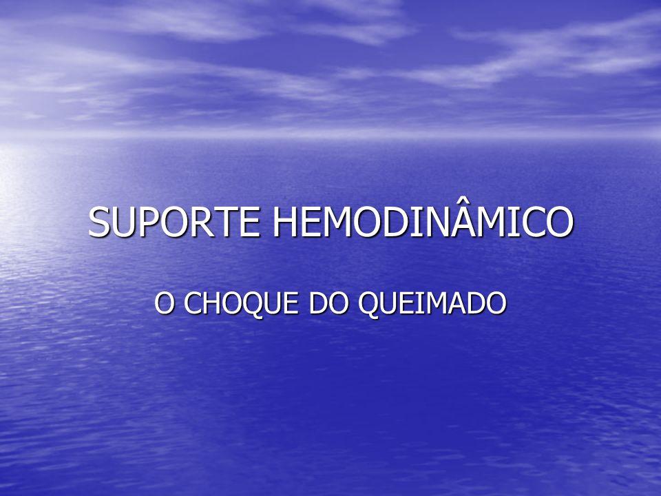 SUPORTE HEMODINÂMICO O CHOQUE DO QUEIMADO