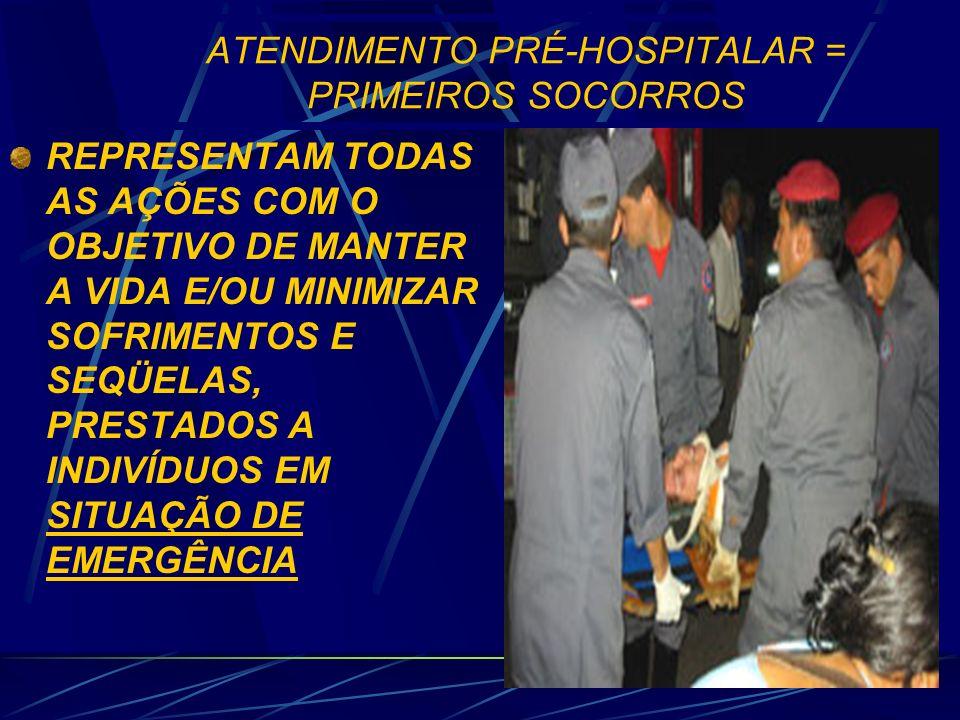 DIFERENÇAS ENTRE EMERGÊNCIA E URGÊNCIA (BASEADO EM GOMES, 1994) ATENDIMENTO DE EMERGÊNCIA = CONJUNTO DE AÇÕES EMPREGADAS PARA A RECUPERAÇÃO, CUJOS AGRAVOS À SAÚDE NECESSITAM DE ASSISTÊNCIA IMEDIATA, POR APRESENTAREM RISCO EMINENTE DE VIDA (FALÊNCIA DAS FUNÇÕES VITAIS).