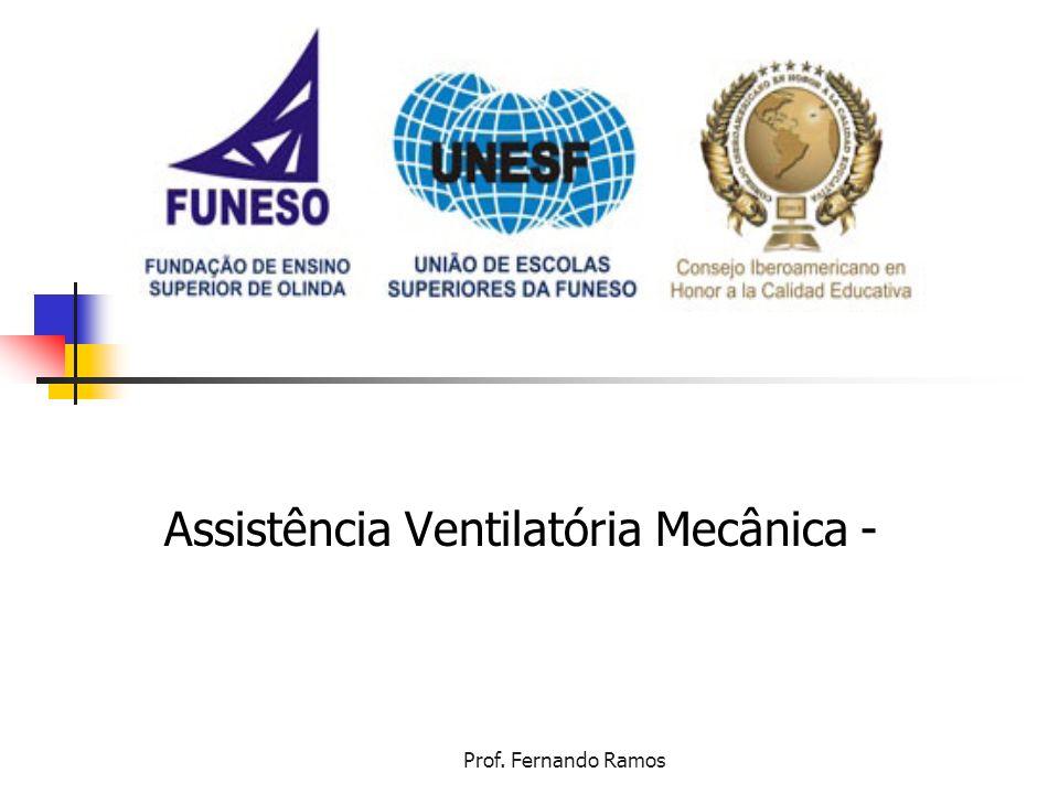 Prof. Fernando Ramos Assistência Ventilatória Mecânica -