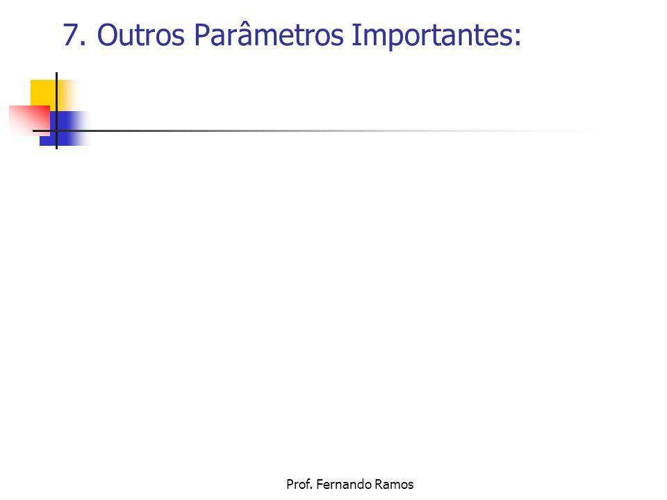 Prof. Fernando Ramos 7. Outros Parâmetros Importantes: