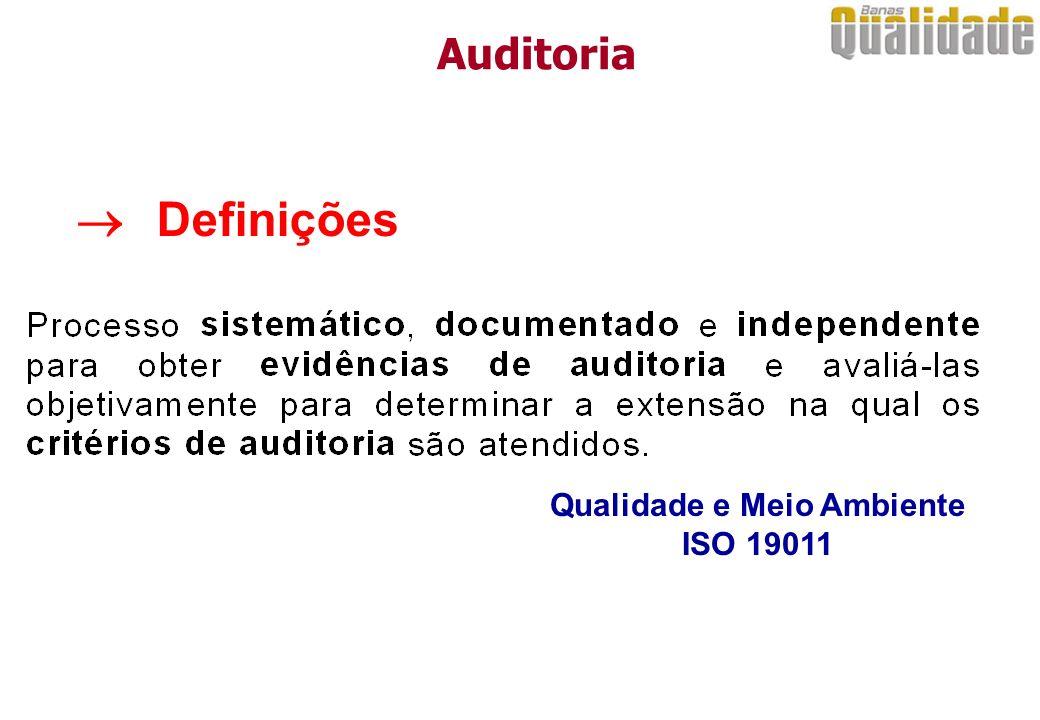 Qualidade e Meio Ambiente ISO 19011 Definições Auditoria