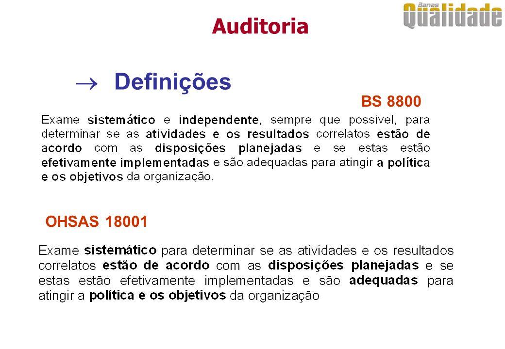 Situações típicas de auditoria....O auditado....