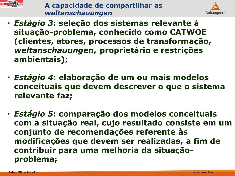 Capa da Obra Estágio 3: seleção dos sistemas relevante à situação-problema, conhecido como CATWOE (clientes, atores, processos de transformação, welta
