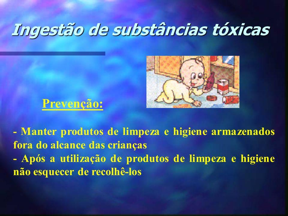 Prevenção: - Manter produtos de limpeza e higiene armazenados fora do alcance das crianças - Após a utilização de produtos de limpeza e higiene não es