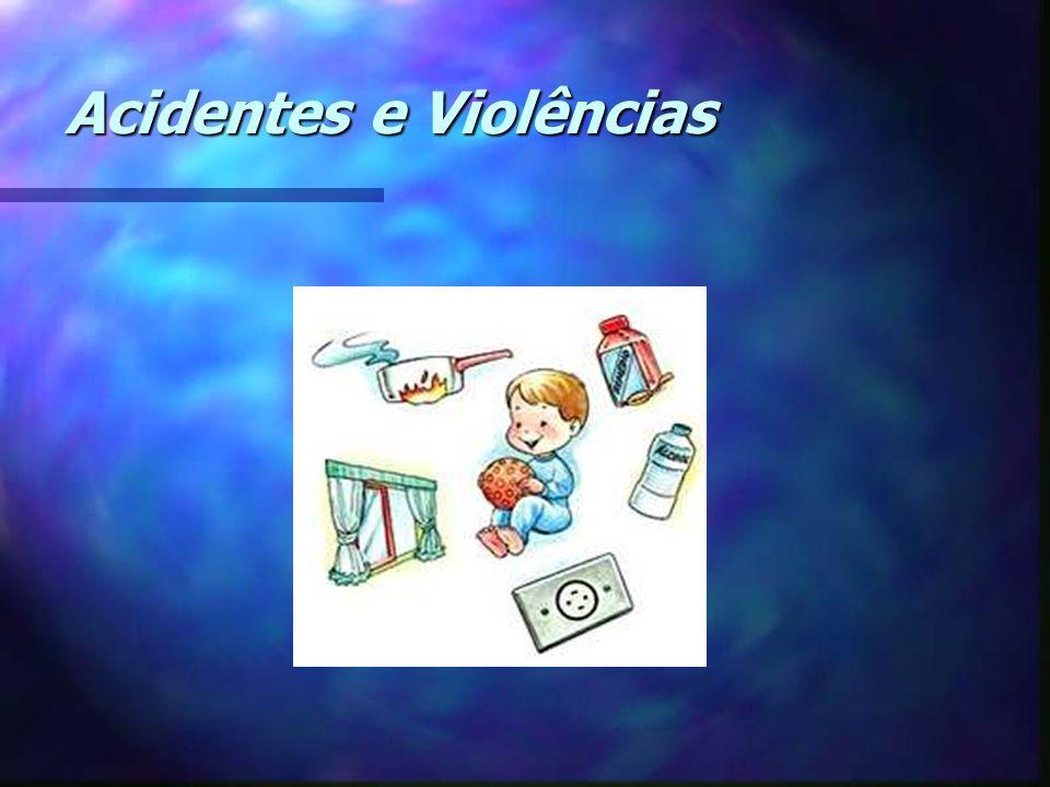 Prevenção - Vigilância constante da criança durante o banho ou durante atividades com água - Não deixar baldes ou tambores cheios dágua ao alcance das crianças - Não deixar a criança sozinha na banheira Afogamento