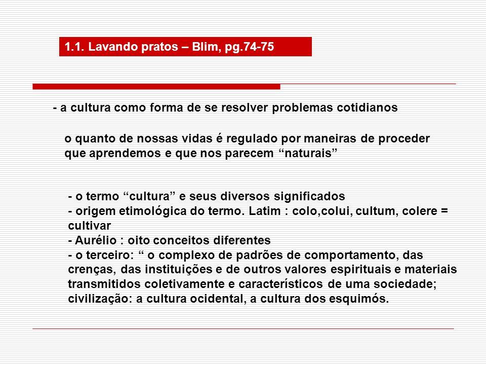 1.2 As origens da cultura A importância da cultura para a sobrevivência humana.