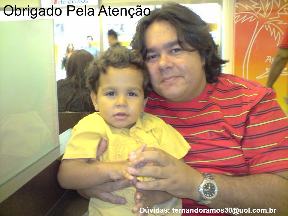 Obrigado Pela Atenção Dúvidas: fernandoramos30@uol.com.br