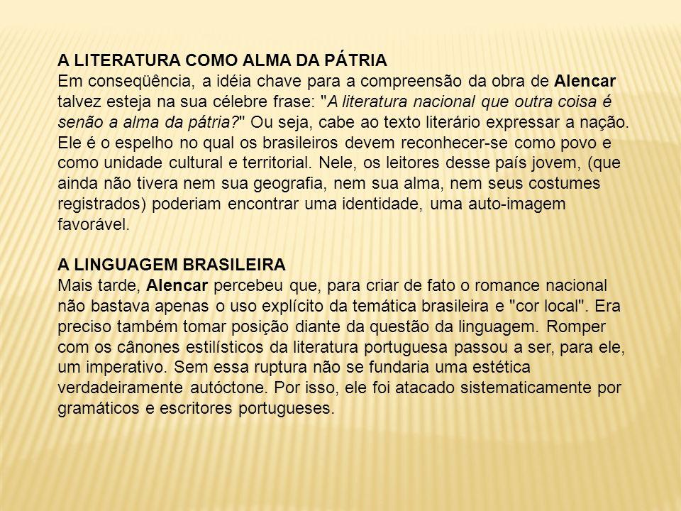 O esforço máximo de Alencar em torno da criação dessa linguagem brasileira ocorreu em Iracema.