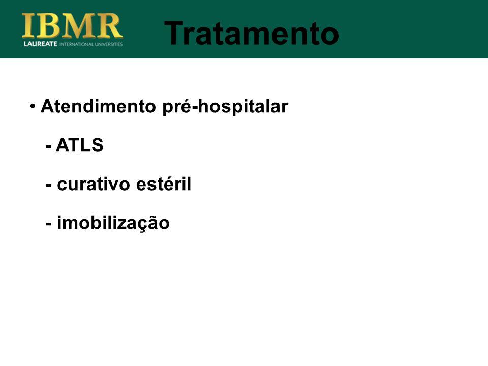 Tratamento Atendimento pré-hospitalar - ATLS - curativo estéril - imobilização