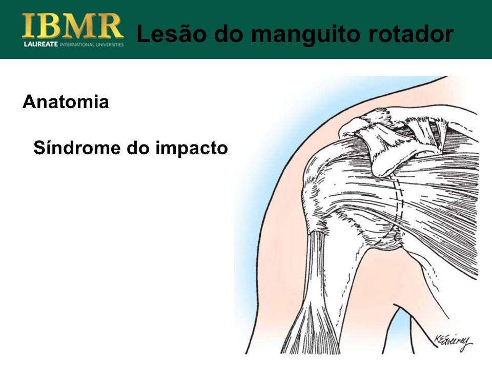 Anatomia Síndrome do impacto Lesão do manguito rotador