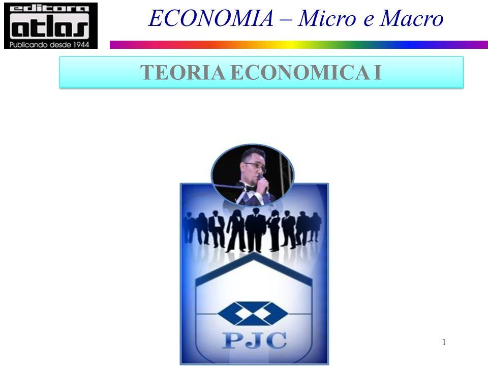 ECONOMIA – Micro e Macro 12 Elasticidades Elasticidade-preço da demanda: É uma variação percentual na quantidade demandada, dada uma variação percentual no preço do bem, coeteris paribus.