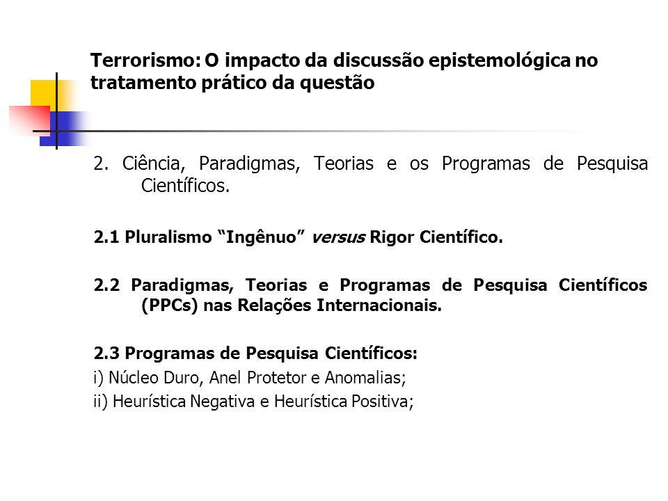 Terrorismo: O impacto da discussão epistemológica no tratamento prático da questão 2.