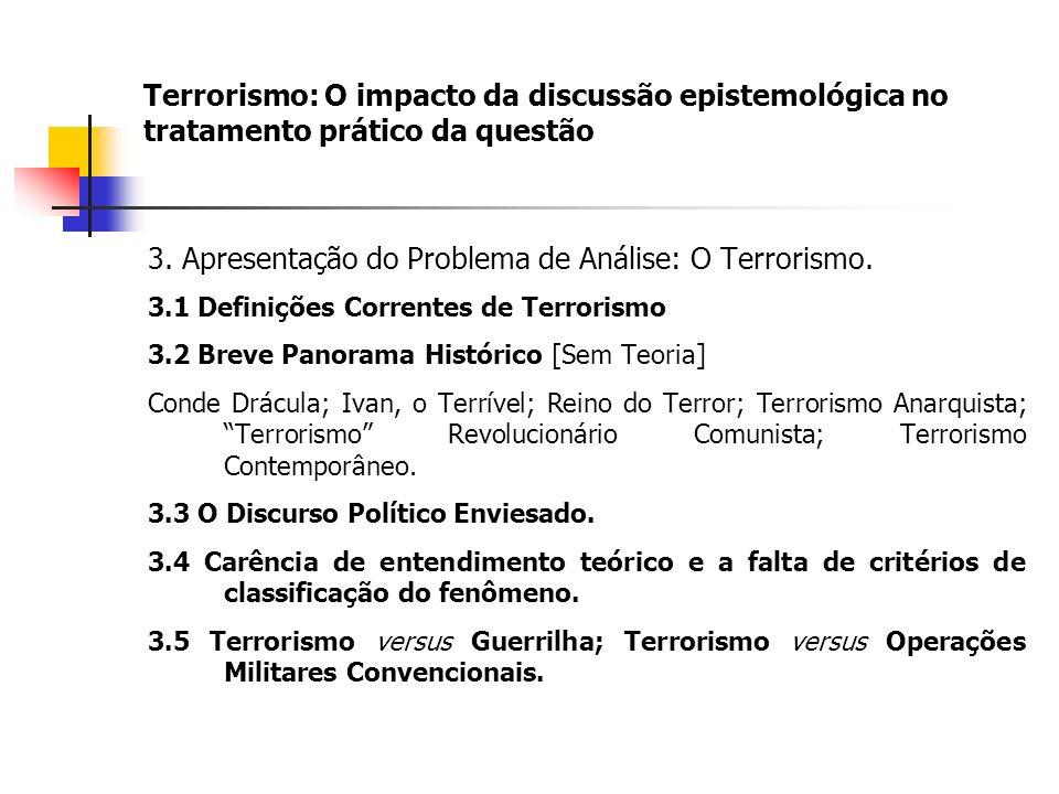 Terrorismo: O impacto da discussão epistemológica no tratamento prático da questão 3.