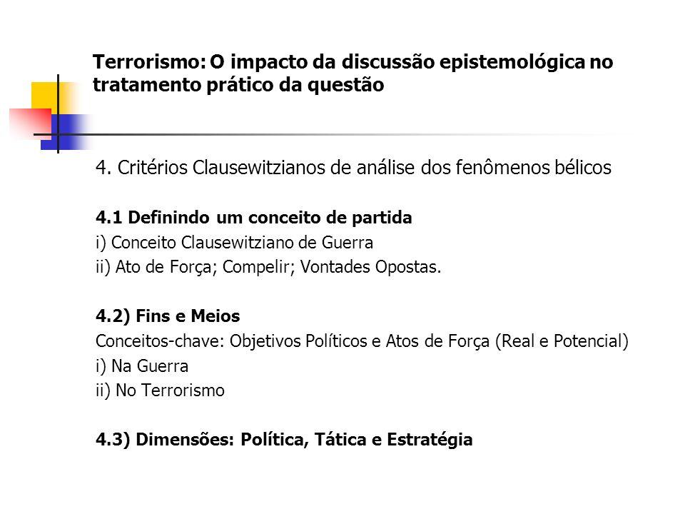 Terrorismo: O impacto da discussão epistemológica no tratamento prático da questão 4.