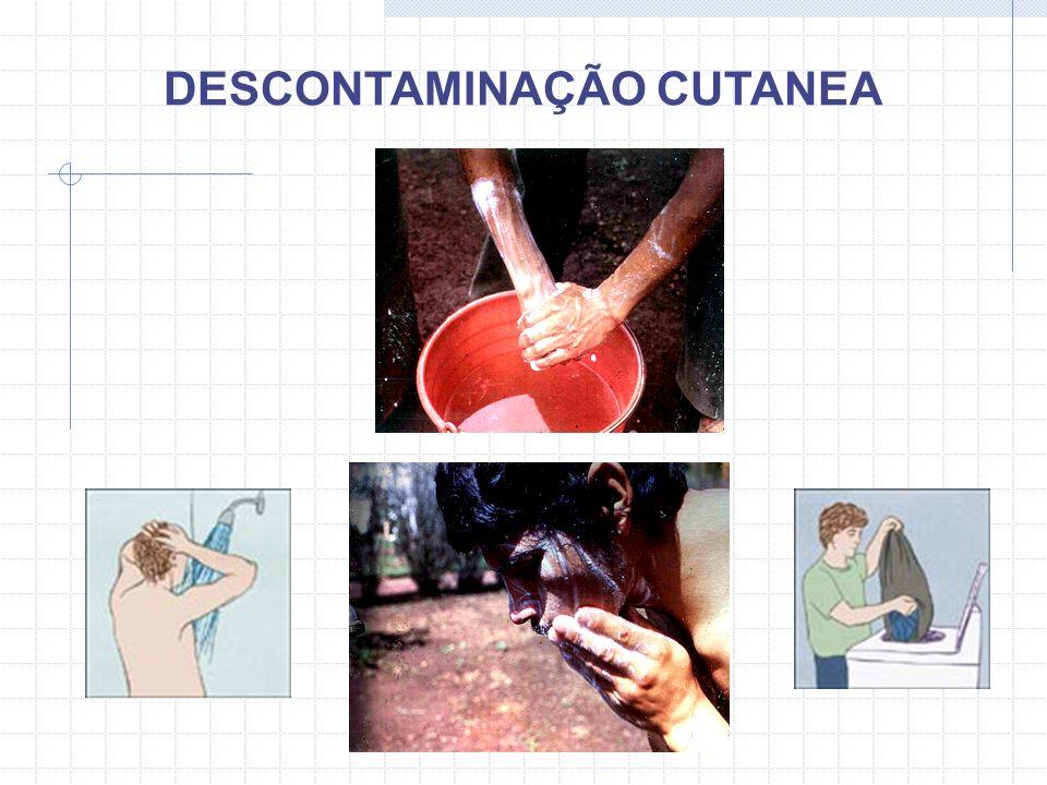 DESCONTAMINAÇÃO CUTANEA