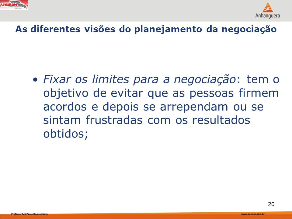 Capa da Obra Fixar os limites para a negociação: tem o objetivo de evitar que as pessoas firmem acordos e depois se arrependam ou se sintam frustradas