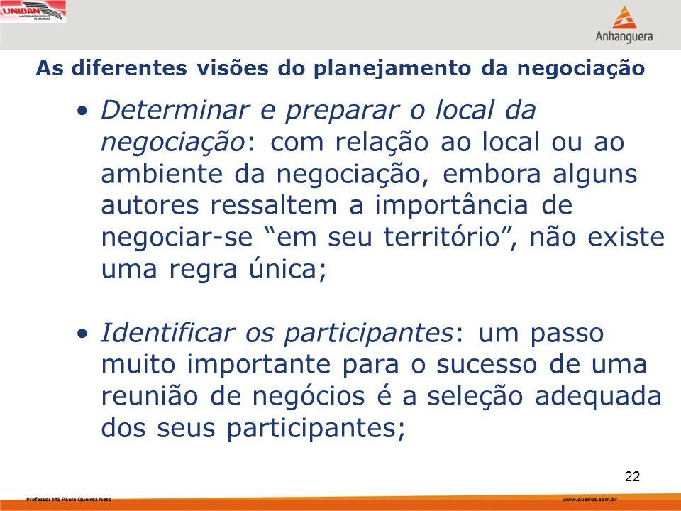 Capa da Obra Determinar e preparar o local da negociação: com relação ao local ou ao ambiente da negociação, embora alguns autores ressaltem a importâ