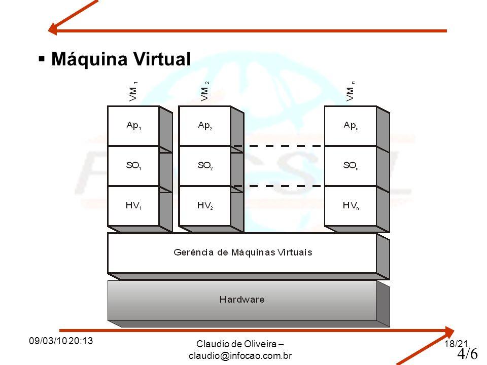 09/03/10 20:13 Claudio de Oliveira – claudio@infocao.com.br 18/21 Máquina Virtual 4/6