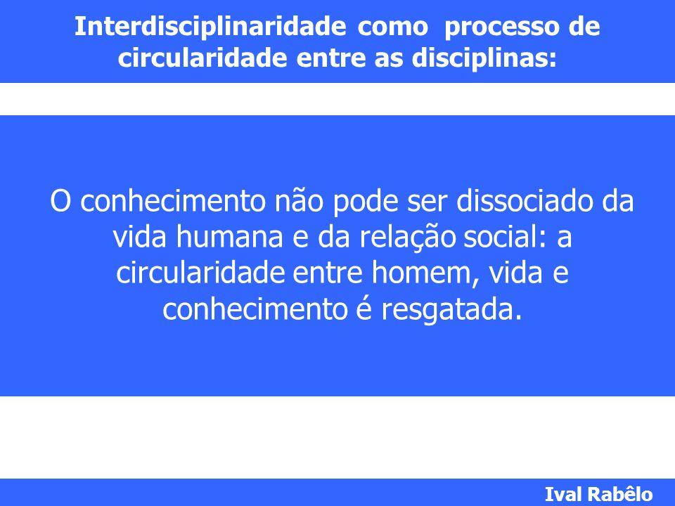Interdisciplinaridade como processo de circularidade entre as disciplinas: O conhecimento não pode ser dissociado da vida humana e da relação social: