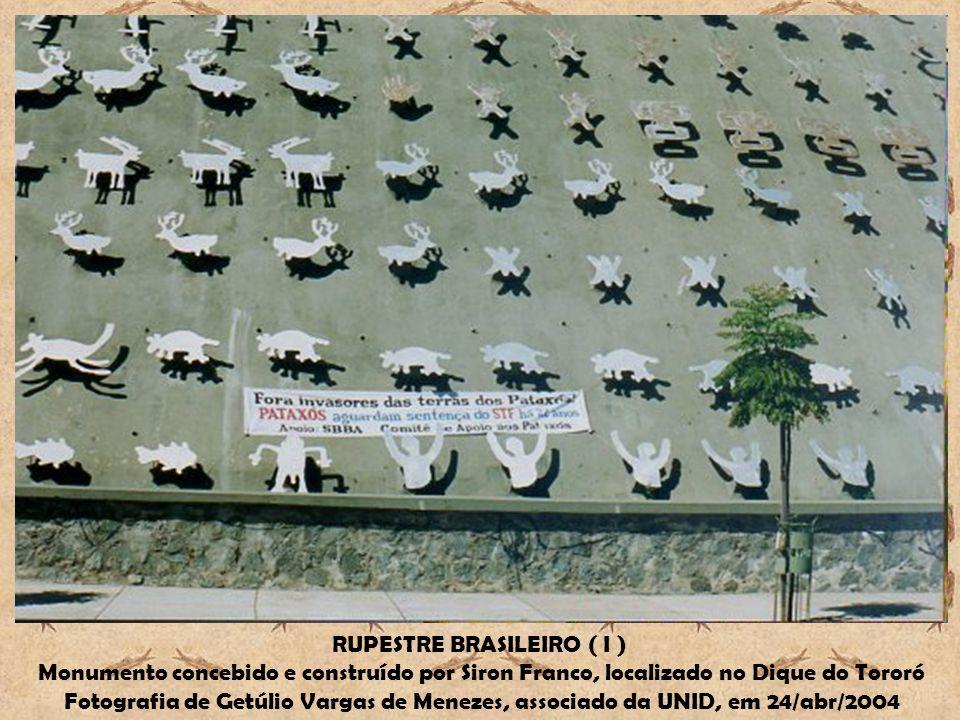 RUPESTRE BRASILEIRO ( I ) Monumento concebido e construído por Siron Franco, localizado no Dique do Tororó Fotografia de Getúlio Vargas de Menezes, as
