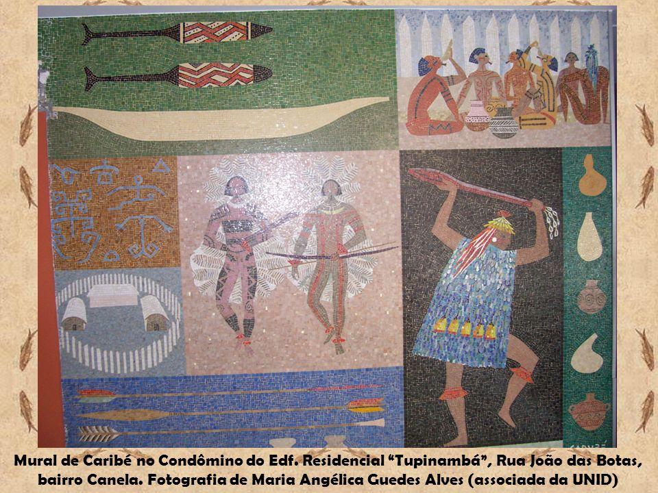 Mural de Caribé no Condômino do Edf. Residencial Tupinambá, Rua João das Botas, bairro Canela. Fotografia de Maria Angélica Guedes Alves (associada da