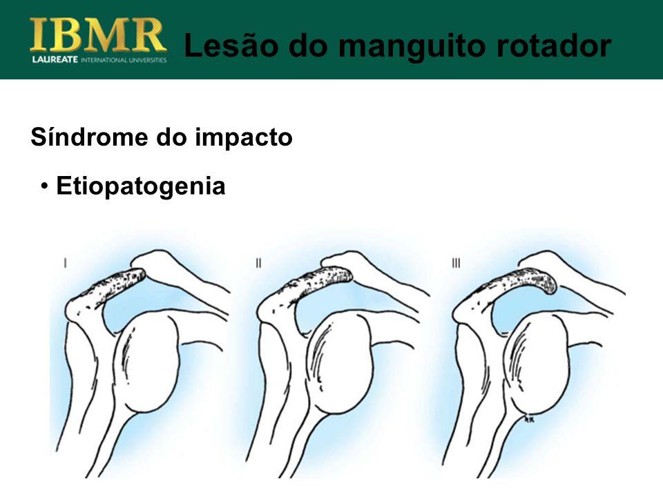 Síndrome do impacto Lesão do manguito rotador Etiopatogenia