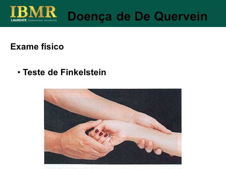 Exame físico Doença de De Quervein Teste de Finkelstein