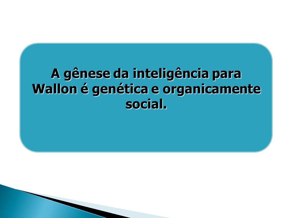 A gênese da inteligência para Wallon é genética e organicamente social.