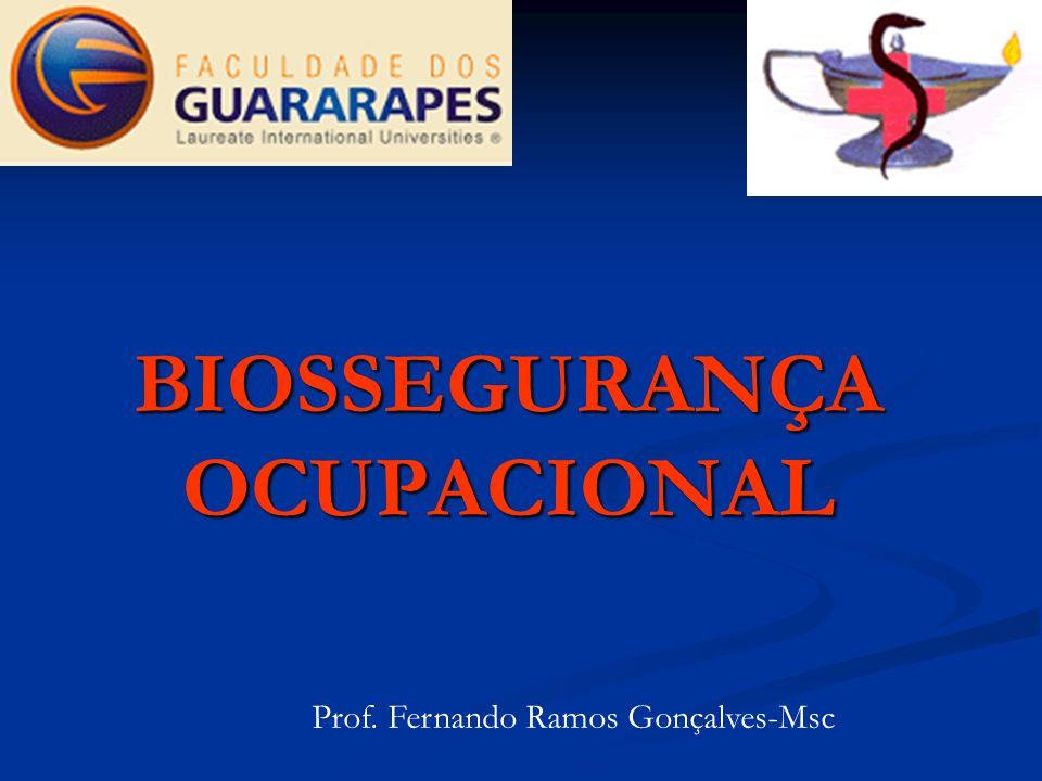 BIOSSEGURANÇA OCUPACIONAL Prof. Fernando Ramos Gonçalves-Msc