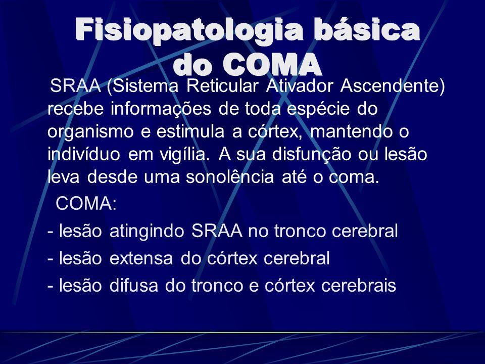 SRAA (Sistema Reticular Ativador Ascendente) recebe informações de toda espécie do organismo e estimula a córtex, mantendo o indivíduo em vigília. A s