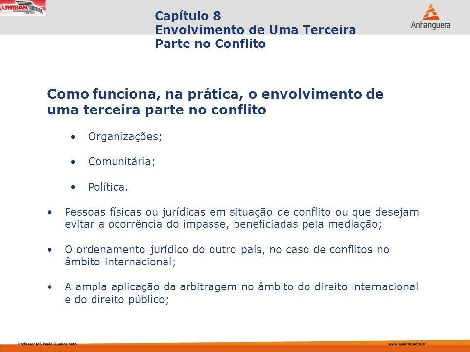 Capa da Obra Capítulo 8 Envolvimento de Uma Terceira Parte no Conflito Organizações; Comunitária; Política.