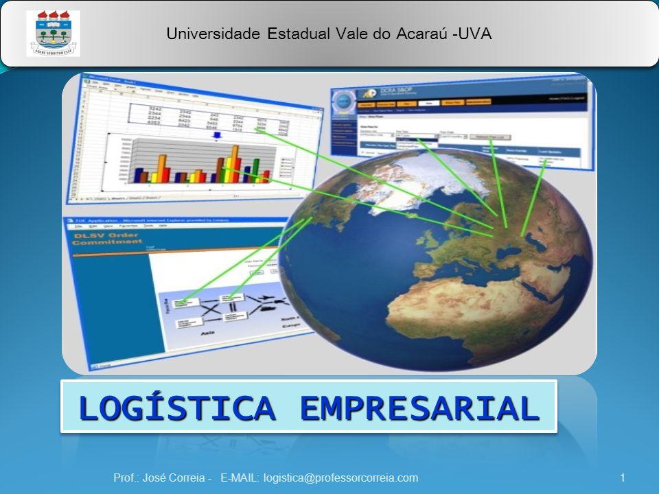 Prof.: José Correia - E-MAIL: logistica@professorcorreia.com1 Universidade Estadual Vale do Acaraú -UVA LOGÍSTICA EMPRESARIAL