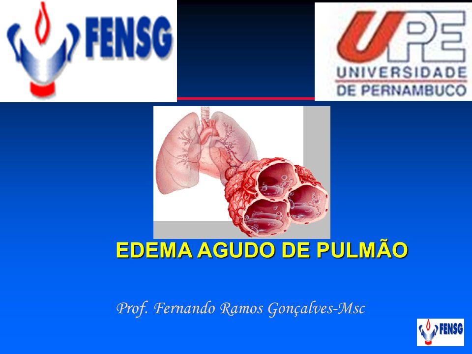 Cardiologia EDEMA AGUDO DE PULMÃO Prof. Fernando Ramos Gonçalves-Msc