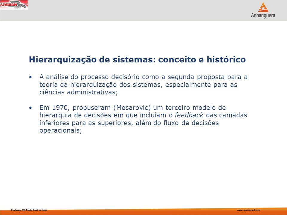 Capa da Obra A análise do processo decisório como a segunda proposta para a teoria da hierarquização dos sistemas, especialmente para as ciências admi