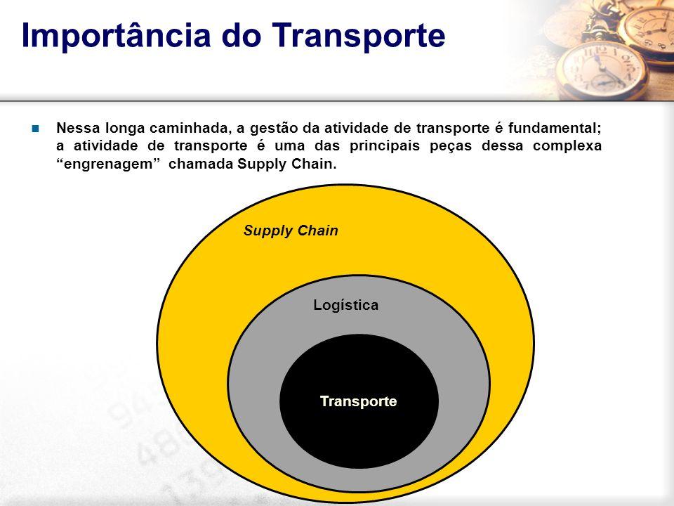 Nessa longa caminhada, a gestão da atividade de transporte é fundamental; a atividade de transporte é uma das principais peças dessa complexa engrenag