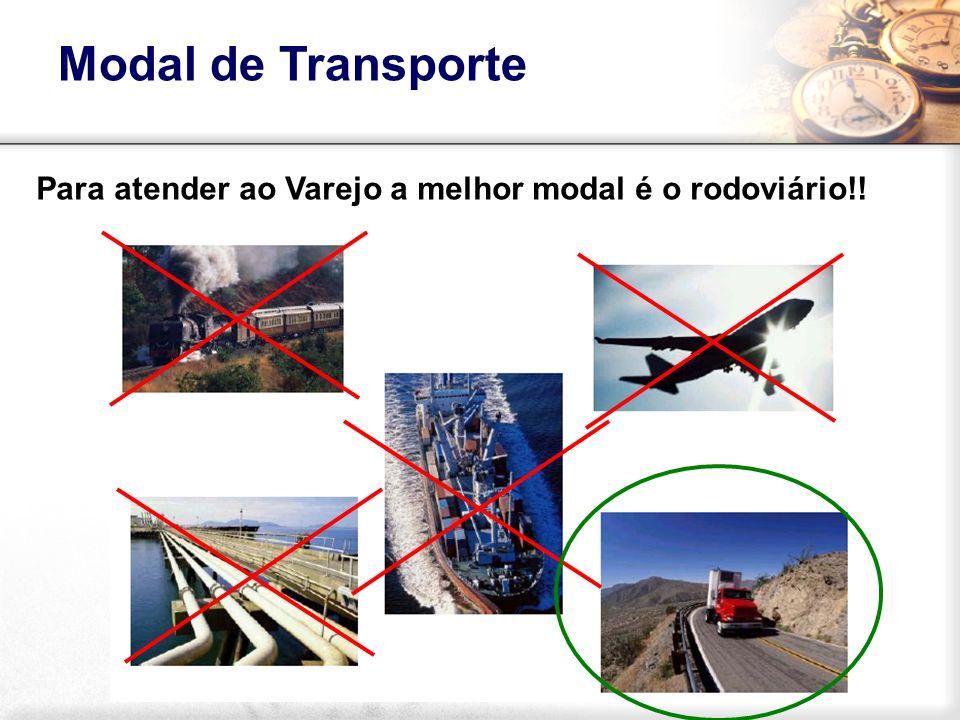 Para atender ao Varejo a melhor modal é o rodoviário!! Modal de Transporte