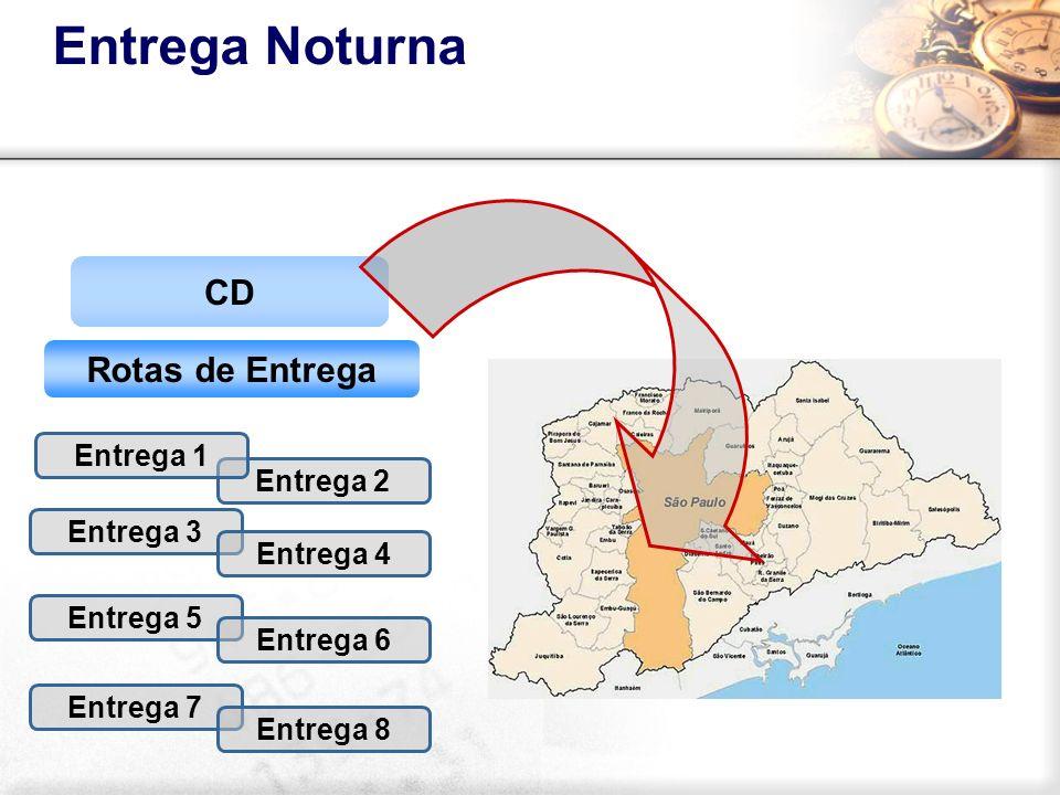 Entrega Noturna CD Rotas de Entrega Entrega 3 Entrega 4 Entrega 5 Entrega 6 Entrega 7 Entrega 8 Entrega 2 Entrega 1
