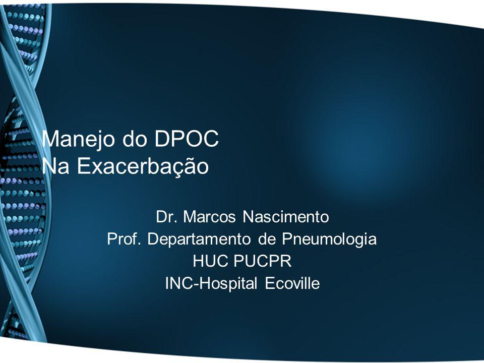 Manejo do DPOC Na Exacerbação Dr. Marcos Nascimento Prof. Departamento de Pneumologia HUC PUCPR INC-Hospital Ecoville